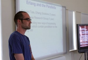 Edward Tate presenting at the Preparing for Parallella event. Image © Tim Partidge
